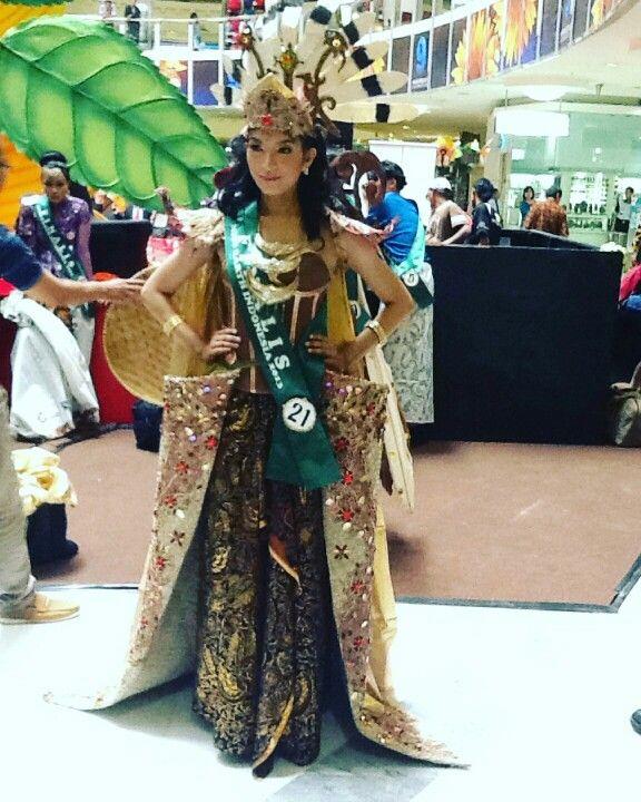 """Pakaian """"daur ulang"""" untuk miss earth 2013 perwakilan jawa barat"""