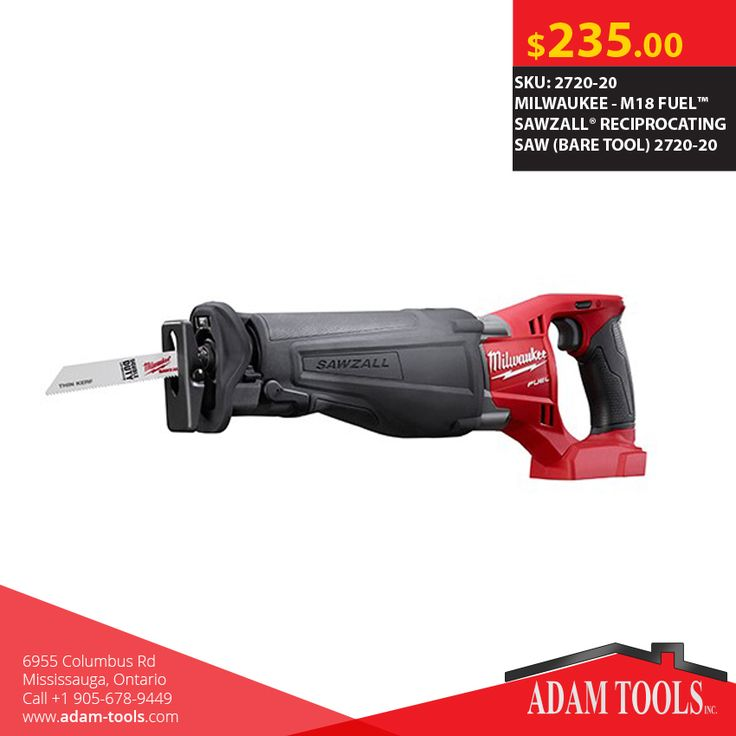 Now available at Adam tools with great price MILWAUKEE - M18 FUEL™ SAWZALL® RECIPROCATING SAW (BARE TOOL) 2720-20 Visit our website for more information and special offers ...  http://www.adam-tools.com/m18-fueltm-sawzallr-reciprocating-saw-bare-tool-2720-20.html #canada #mississuaga #power_tools #building_supplies #adamtools #shop_online #buy_online #BoschTool #Powertools #tools #Sawzall #MILWAUKEE
