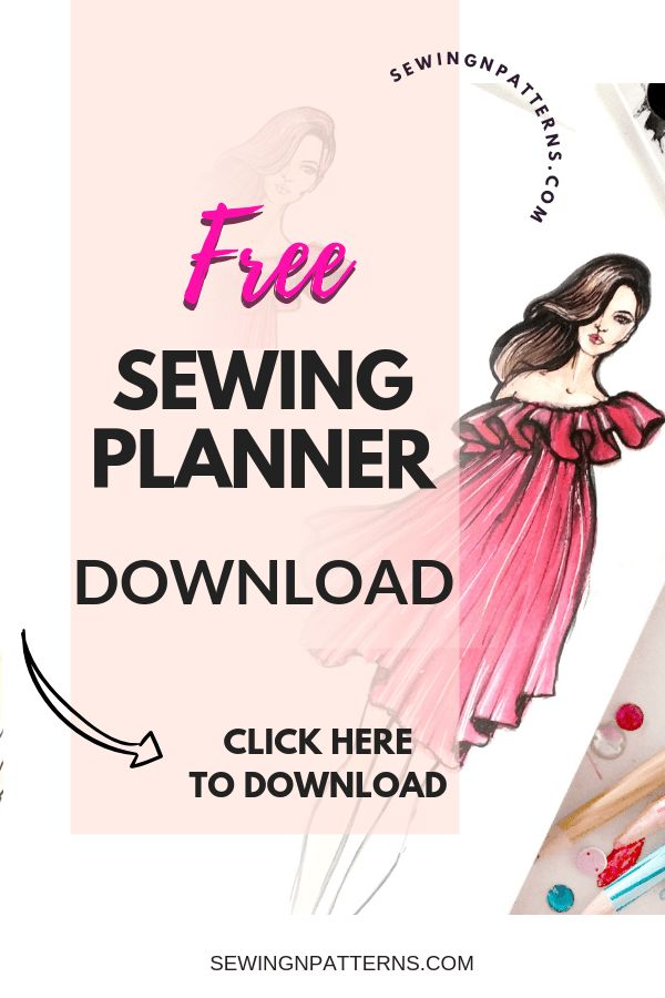 Use this free sewing planner to make more time for sewing. It has room for fashi…