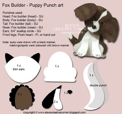Alex's Creative Corner: Welcome Puppy Punch Art card