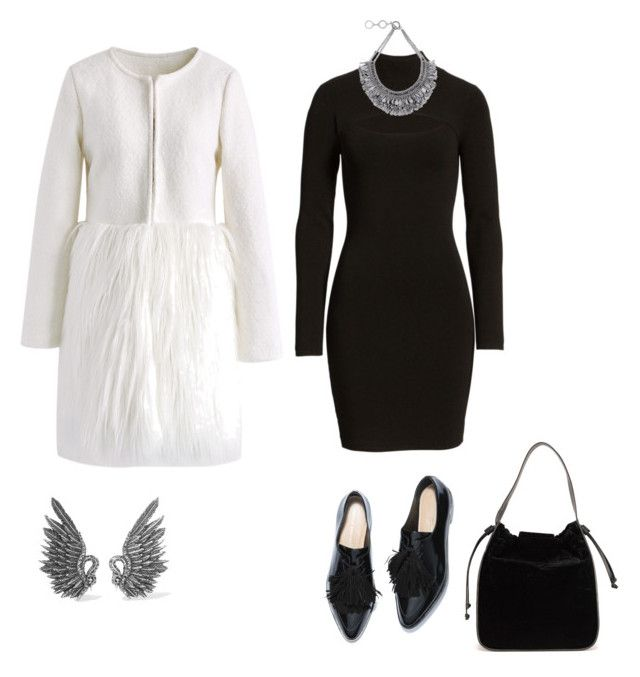 """""""Swan"""" by mariapauladiaz142 on Polyvore featuring Chicwish, Leith, French Connection, Lanvin and Forest of Chintz"""