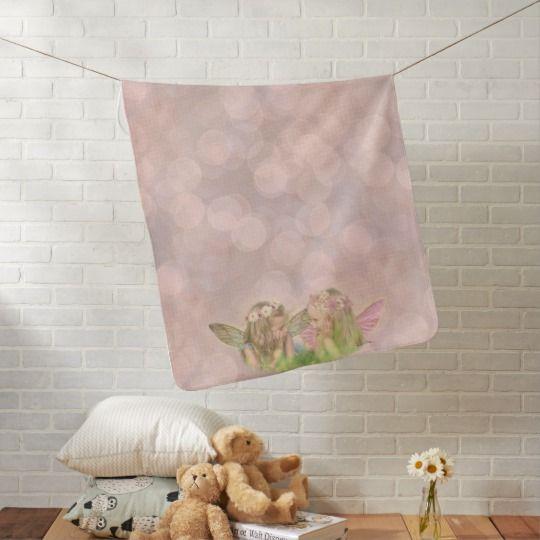 Fairy Friends Baby Blanket in Pink