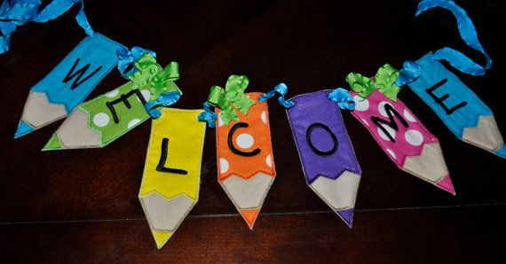 Teacher Appreciation Welcome Penclie Banner by BIndulgedBoutique, $35.00