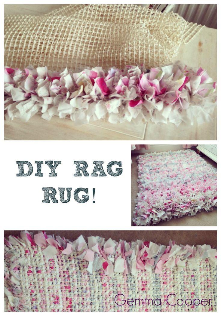 How To Make A Diy Rag Rug Using Old Bedding Rag Rug