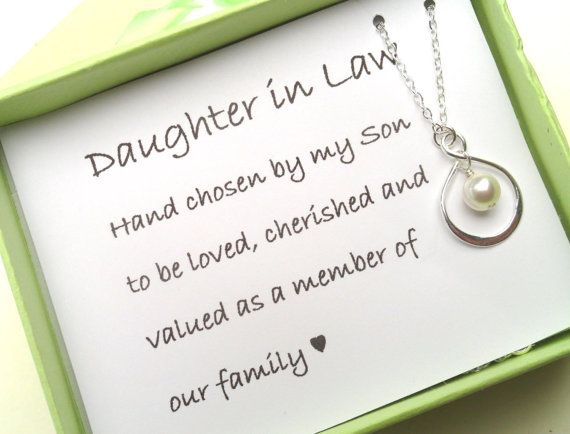 Daughter In Law Gift Boxed Jewelry Thank You