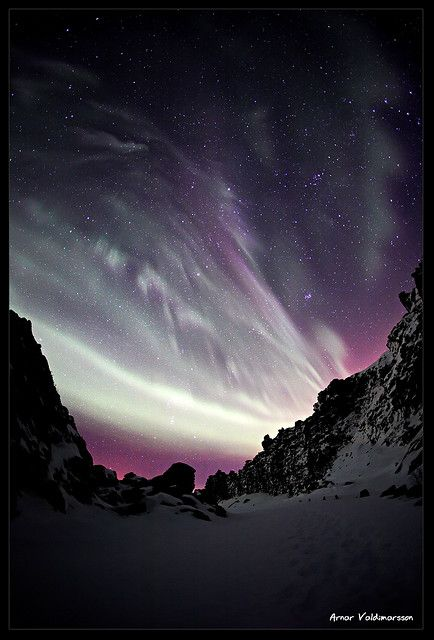 Purple Aurora Borealis