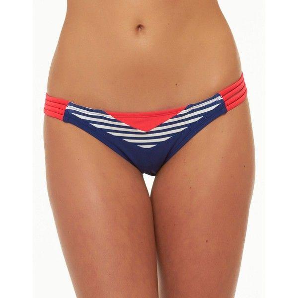 Body Glove Nautical Bikini Bottom ($55) ❤ liked on Polyvore featuring swimwear, bikinis, bikini bottoms, midnight blue, swim bikini bottoms, nautical bikini, bikini two piece, nautical bikini swimwear and swim swimwear