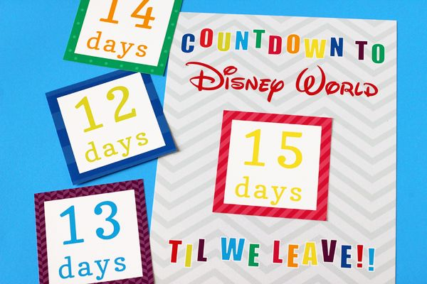 Perfect for a stay at Disney's Art of Animation Resort. Awesome printable!  #waltdisneyworld #disney  Disney World Countdown Calendar   505-design.com
