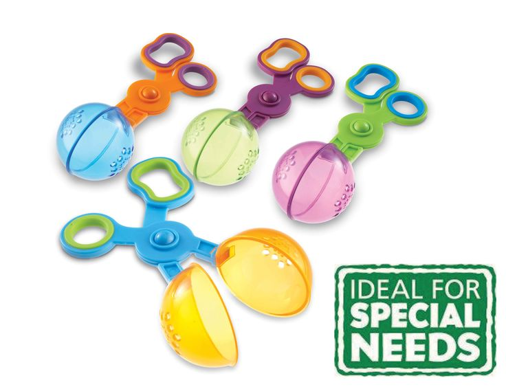 Handy Scoopers! Practice skills required for scissor control. Great fun for the water table, bath and sand! #sen #scissors #scoopers