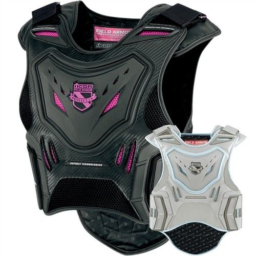 2015 Icon Stryker Womens Field Armor Street Riding Protection Motorcycle Vest