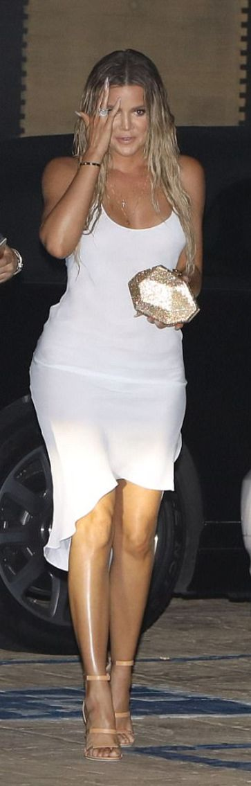 Khloe Kardashian wearing Tamara Mellon, Wardrobe and Disney Couture / Swarovski