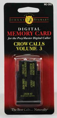 Johnny Stewart Model #MC-CR3 Crow Calls Memory Card, Volume 3: Young Crow in Distress… #TrapperSupplies #TrapperBooks #TrapperVideos