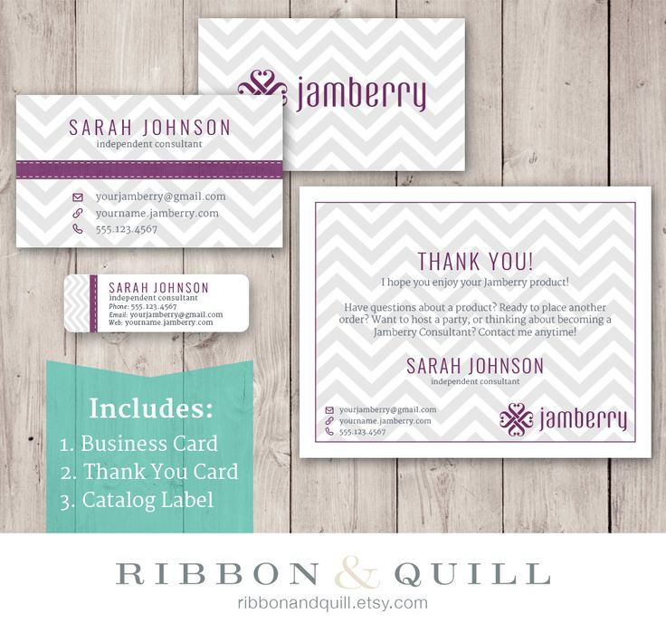 Jamberry business bundle business card thank you label