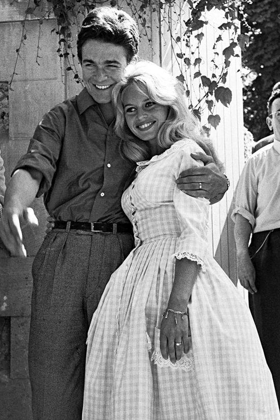 Молодожены Жак Шарье и Брижит Бардо, 1959