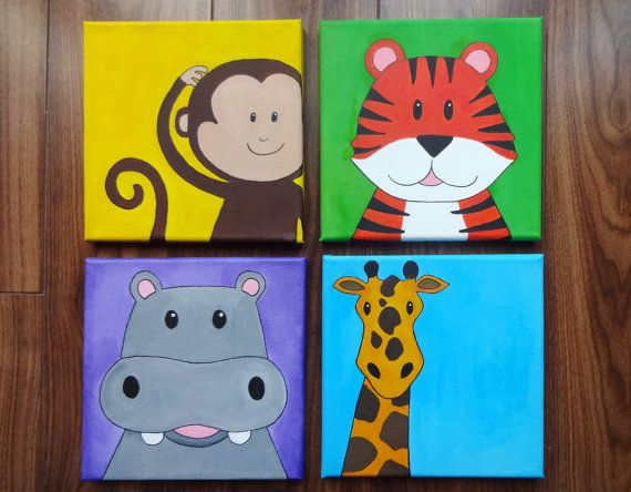 Childrens Wall Decor Canvas : Best images about kids paintings on canvas