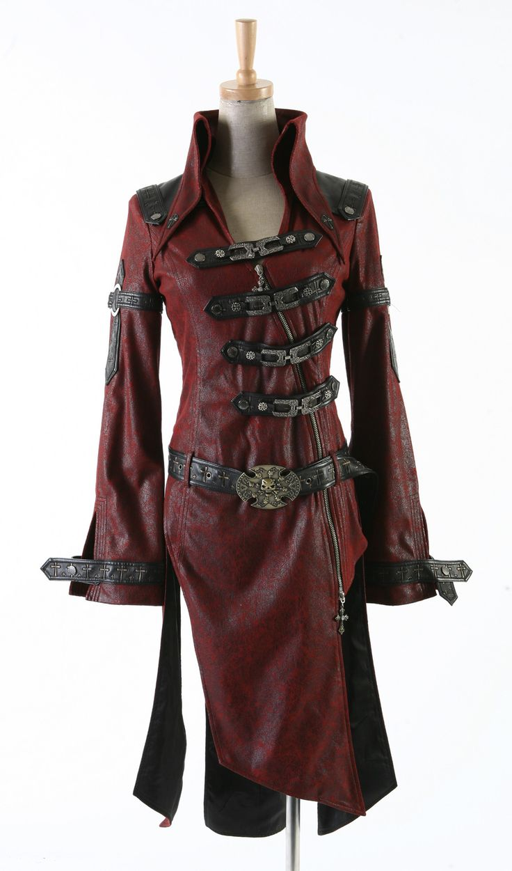 Vampire Style Sexy Gothic or Steampunk coat by Punk Rave