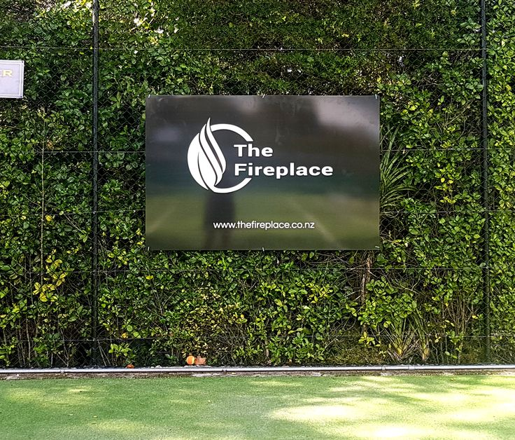 ACM fence sign foe The Fireplace by Speedy Signs Newton
