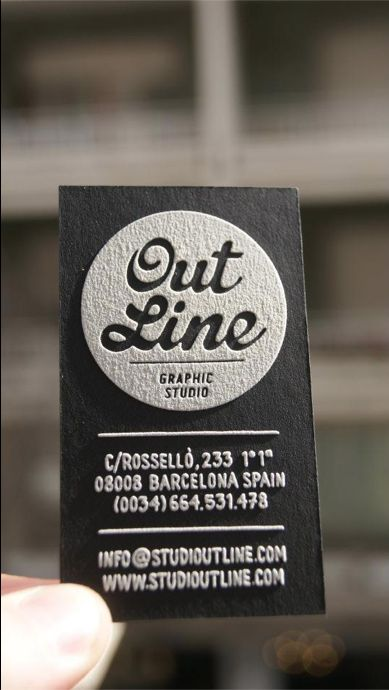 Tarjetas de visitas (serigrafia) by Outline Studio , via Behance