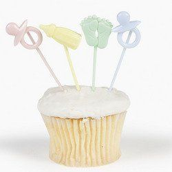 1 X Baby Shower Theme Party Picks (72 Pc), 2015 Amazon Top Rated Cake & Cupcake Toppers #Toy