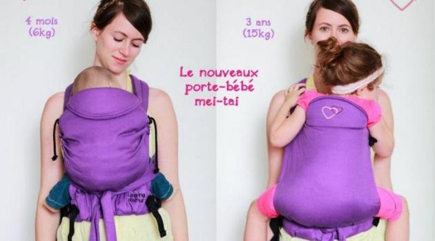 Porte bébé Mei Tai de Ling Ling d'amour