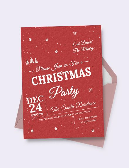 a free retro christmas invitation template like this is bound to be helpful when it comes