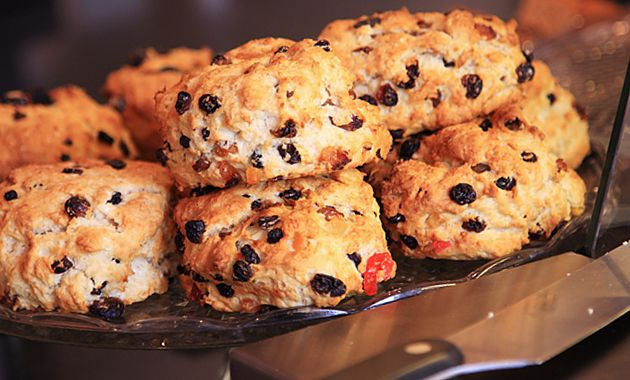 Oven Baked Fruit Scones - My Scottish grandmother always had egg in her recipe for scones.