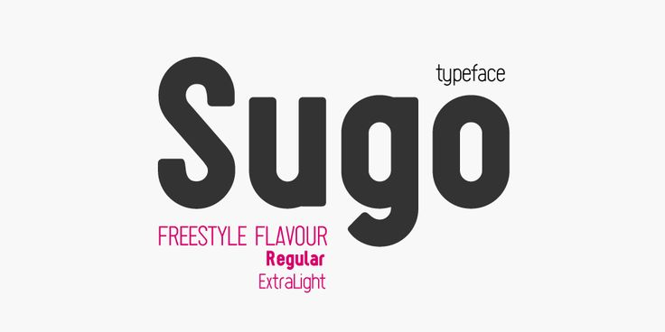 Sugo Typeface by zetafonts - the fonts foundry