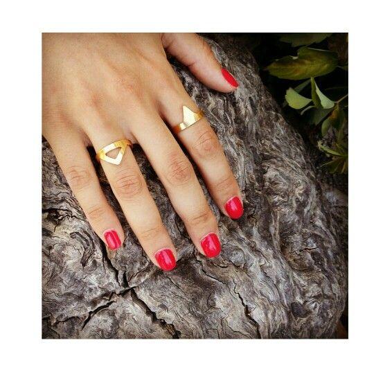 Geometry#goldplated#rings#handmade#metalsmith#
