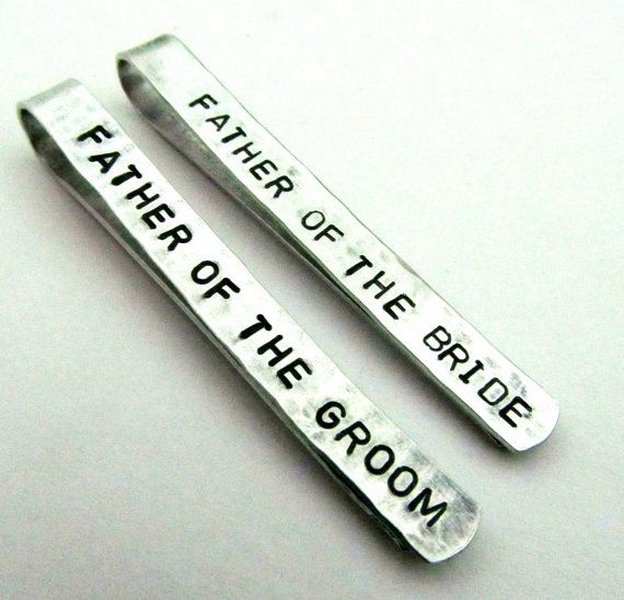 Father of the Bride and Groom tie clips. cute