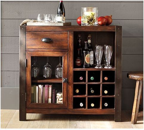 Would Probably Need A Wayyyy Bigger Bookshelf Section But This Is The Perfect Combo Wine CabinetsCupboardsMini