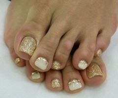 Toe Nail designs......I wouldnt do gold though maybe a neutral brown