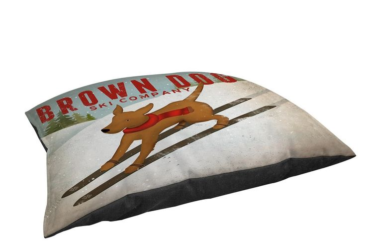Manual Woodworkers & Weavers Indoor/Outdoor Large Breed Pet Bed Brown Dog Ski Company Multi Colored
