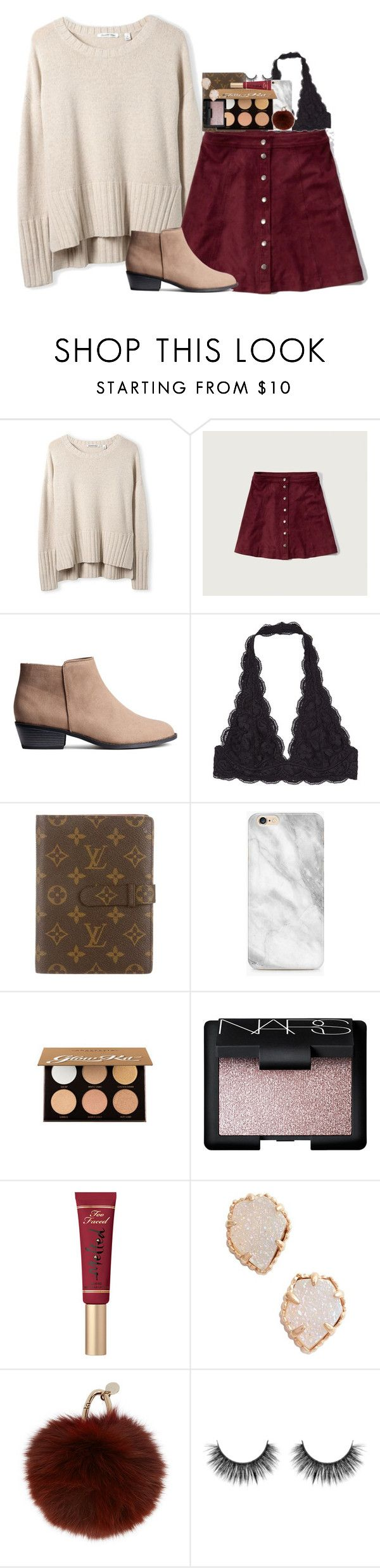 """"" by pineappleprincess1012 ❤ liked on Polyvore featuring Abercrombie & Fitch, Louis Vuitton, Anastasia Beverly Hills, NARS Cosmetics, Too Faced Cosmetics, Kendra Scott and Yves Salomon"