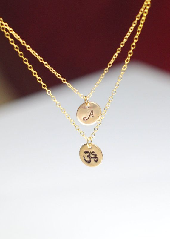 Om necklace Layered om necklace Ohm necklace by AngelicSpark, $28.00