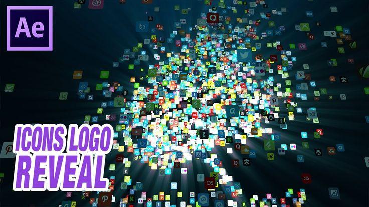 Aparición logo con iconos redes sociales // Tutorial trapcode Form para ...