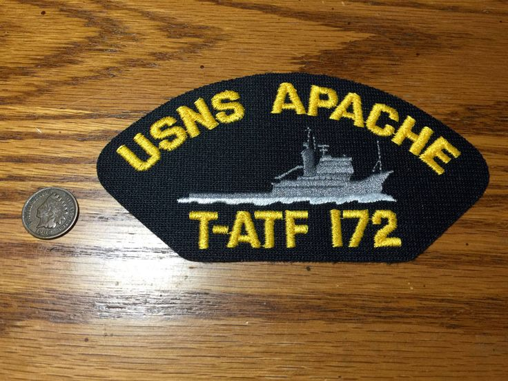 USNS Apache T-ATF 172 Ocean Tug Military US Navy Hat Patch by PickledPterodactyl on Etsy