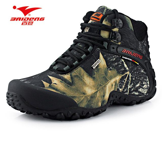Today Sale $35.80, Buy New waterproof canvas hiking shoes boots Anti-skid Wear resistant breathable fishing shoes climbing high shoes