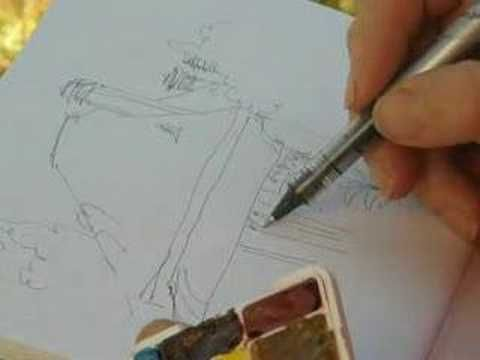 Helen's landscape painting tips 5, painting outside!