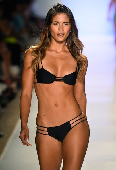Rocky Barnes Walks The Runway At The Mia Marcelle Fashion Show During Mercedes Benz Fashion Week