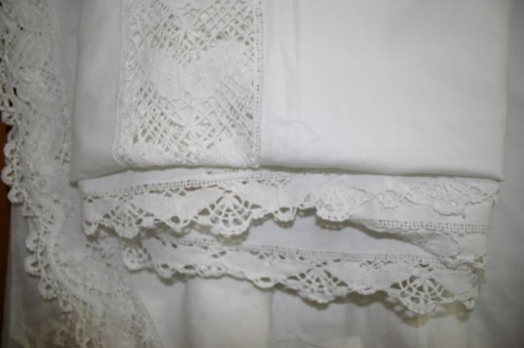 Butterfly Cluny Lace Bedding- Bed Cover & shams or Bedskirts  https://thelaceandlinensco.com/store/products/butterfly-cluny-bedding#  #vintage #linens #battenburg #lace #duvet #shams