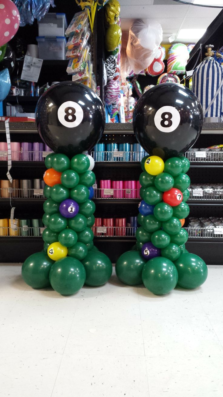 Made these for a billiard themed 60th birthday party for Balloon decoration birthday party chennai