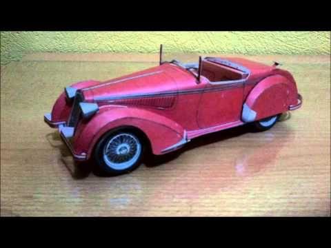 Alfa Romeo 8C2900B Corto (1937). Animación del armado del vehiculo en papel, que lo disfrute. Enjoy!