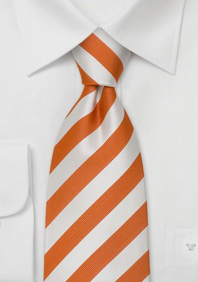 striped tieStripes Ties, Orange And White Wedding, Orange Wedding, Orange Ties, Men Ties, Tangerine Touch, Stripes Orange, Orange Stripes, White Stripes