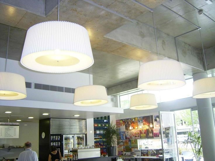 A Good Way To Break Up Large Ceiling Voids Create Decent Lighting And Absorb Sound Ward