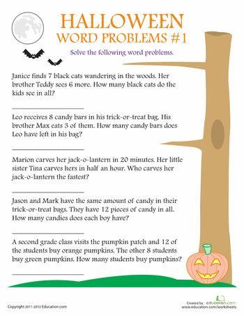 halloween word problems worksheets themed activities pinterest. Black Bedroom Furniture Sets. Home Design Ideas