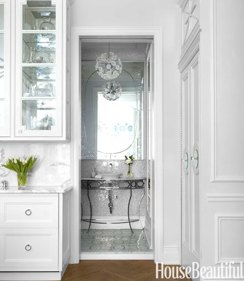 Small Bathrooms House Beautiful 30 best penny tile images on pinterest | penny tile, bathroom