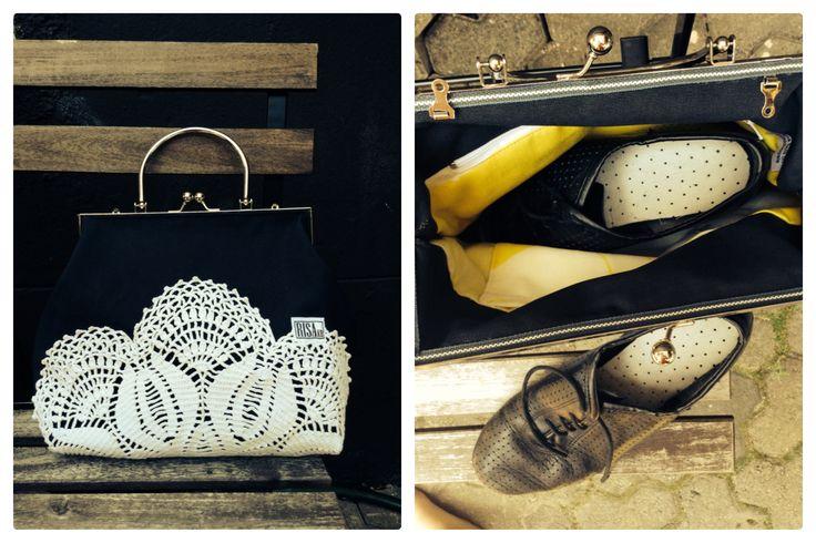Handbag for dansign shoes by Risako