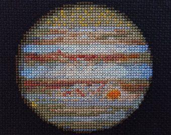 Solar System Planets Cross Stitch Patterns Set of 9 by StemStitch