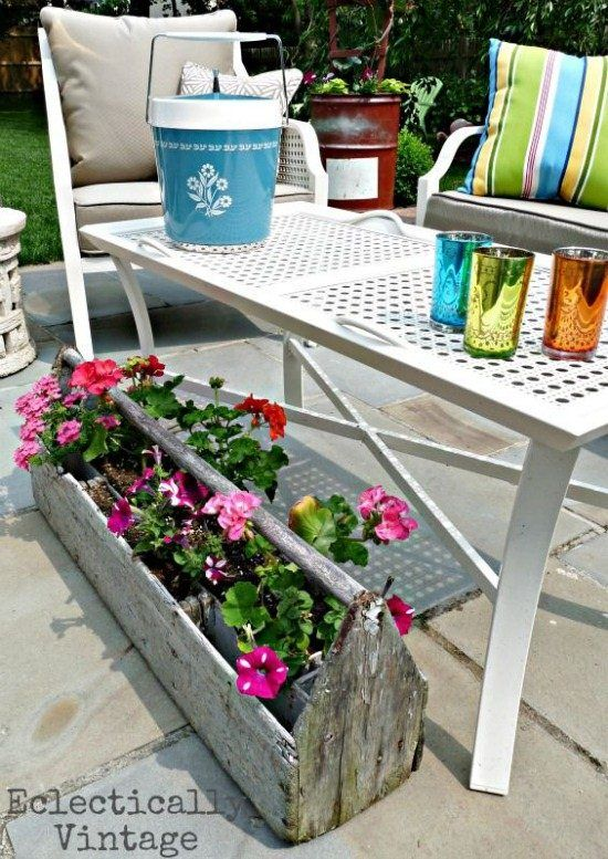Get an eclectic patio - mixing old and new