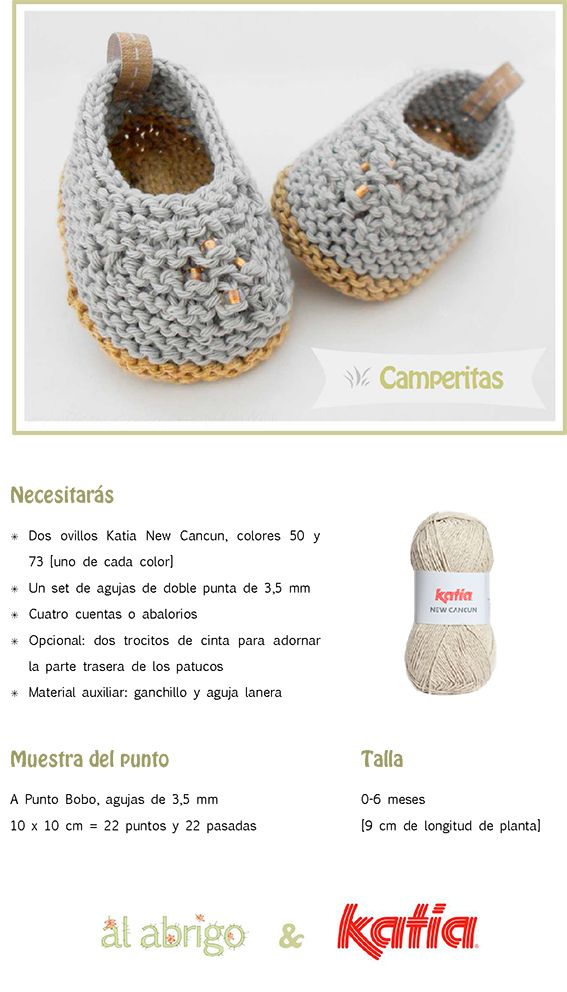 Craft Lovers ♥ Camperitas por Al abrigo | http://www.katia.com/blog/es/craft-lovers-patron-punto-patucos-camperitas-al-abrigo/